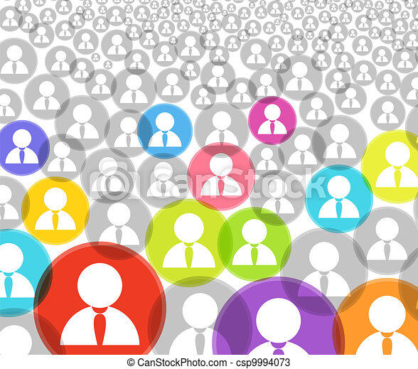 Abstract crowd of social media account icons - csp9994073