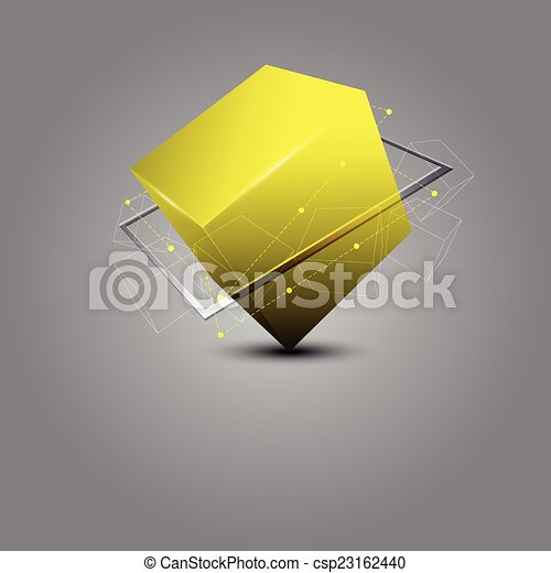 abstract cube science concept - csp23162440