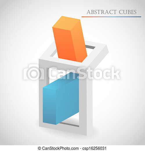 abstract cube vector - csp16256031
