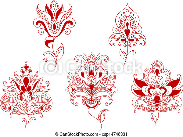 Abstract curly flowers - csp14748331