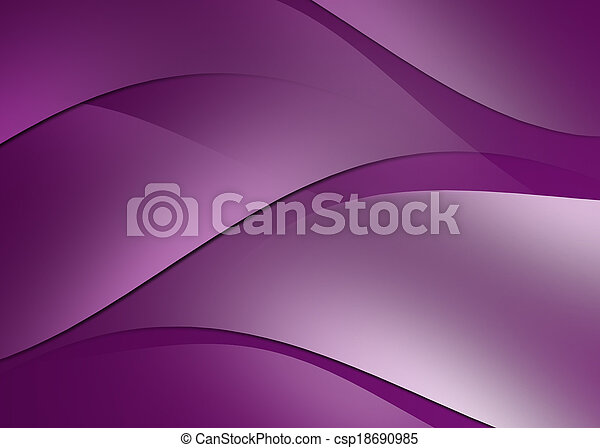 Abstract curve and line purple background - csp18690985