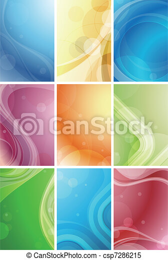 Abstract Curve Background - csp7286215