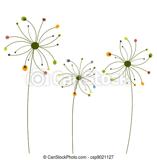 Abstract dandelion flowers - csp9021127