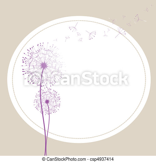 Abstract dandelion in the wind - csp4937414