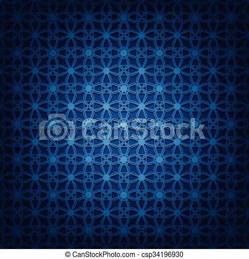 Abstract dark blue background - csp34196930