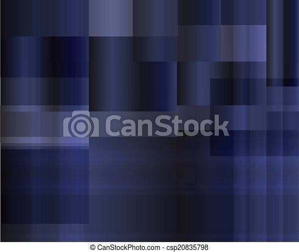 Abstract dark blue background, vect - csp20835798