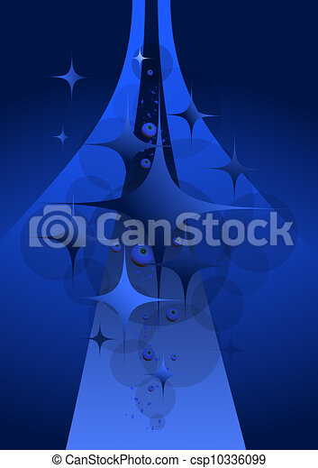 Abstract dark blue background with  - csp10336099