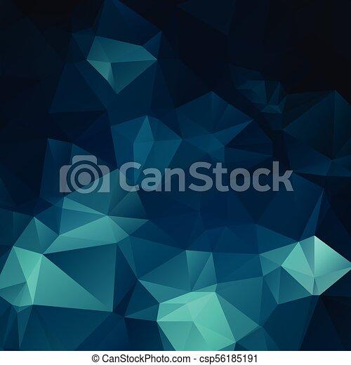 Abstract dark blue polygon - csp56185191