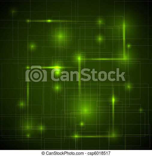 Abstract dark green technical background  - csp6018517