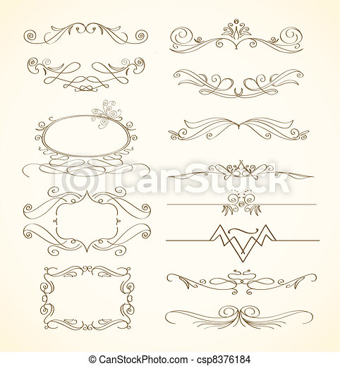 abstract decorative elements  - csp8376184