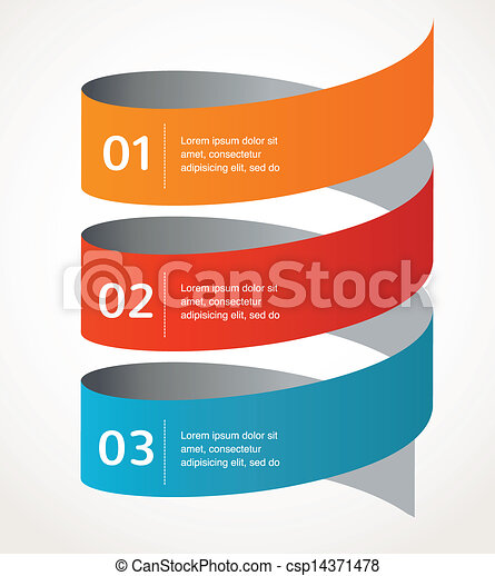 Abstract design and infographics, background, vector icon - csp14371478