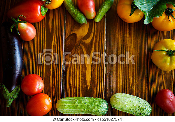abstract design background vegetables - csp51827574