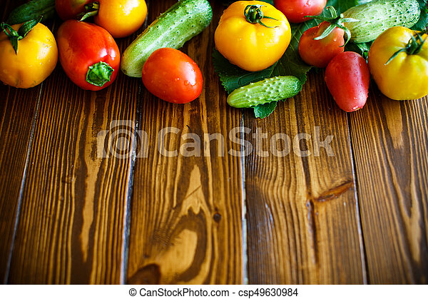 abstract design background vegetables - csp49630984