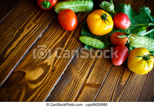 abstract design background vegetables - csp49630990