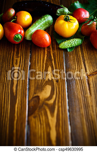 abstract design background vegetables - csp49630995