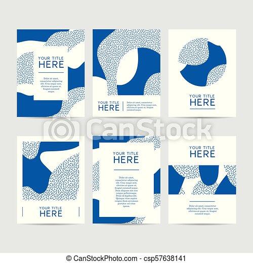 Abstract Design Brochure Set - csp57638141