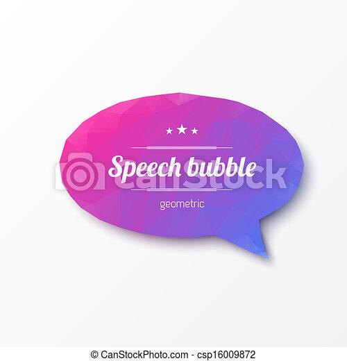 Abstract design - Geometric speech bubble - csp16009872