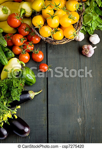 abstract design vegetables background - csp7275420