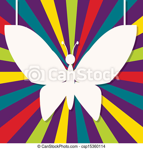 abstract design with paper butterfly - csp15360114