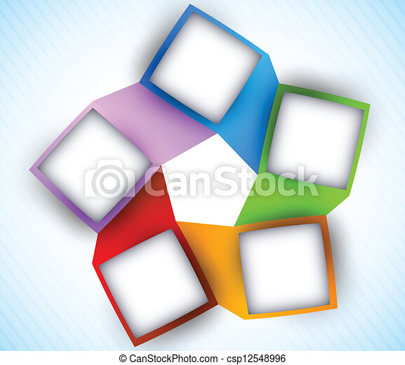 Abstract diagram with squares - csp12548996
