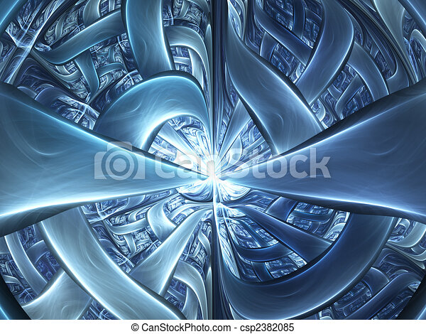 Abstract digitally rendered futuristic gate. Good as background or wallpaper. - csp2382085