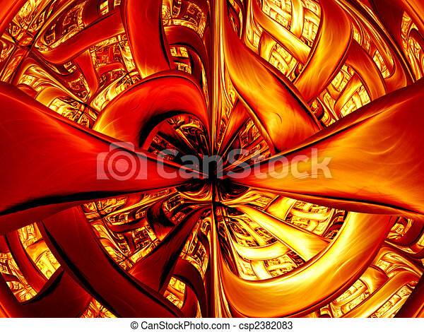 Abstract digitally rendered inferno gate. Good as background or wallpaper. - csp2382083