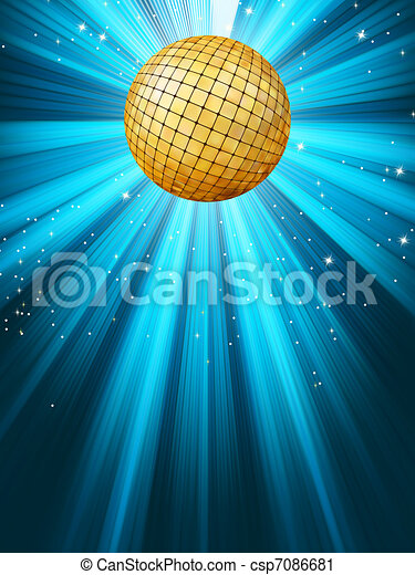 Abstract disco party lights background. EPS 8 - csp7086681