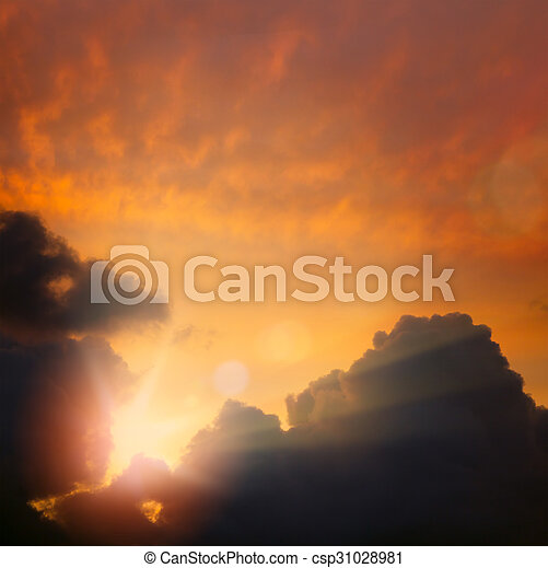 Abstract dramatic sky Light background - csp31028981