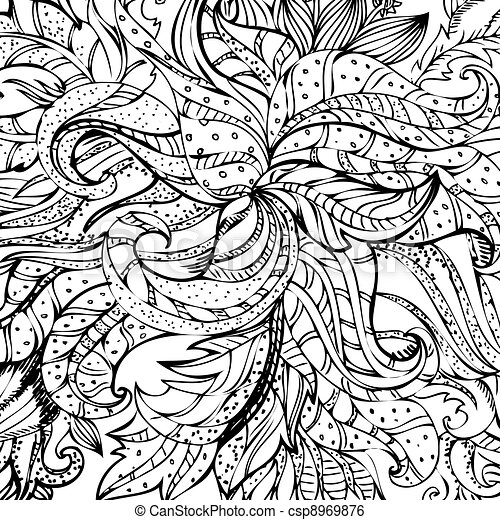abstract drawing by hand - csp8969876
