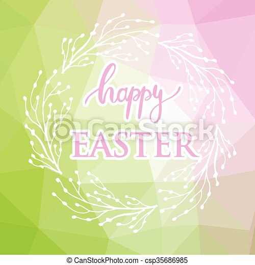 Abstract easter card - csp35686985