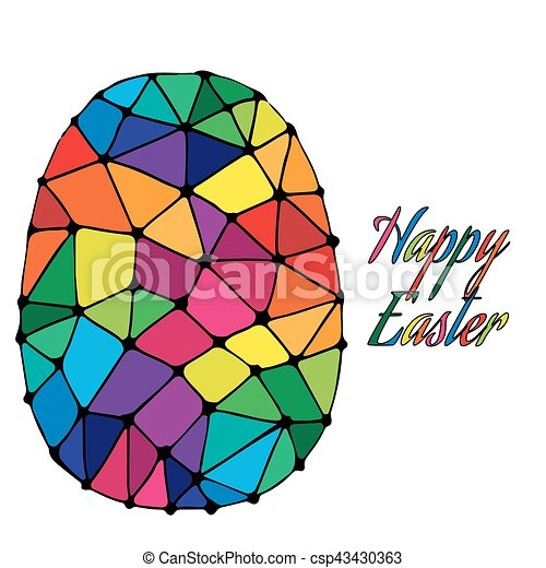 abstract easter egg with colorful inscription happy easter clip rh canstockphoto com abstract clipart vector abstract clipart background
