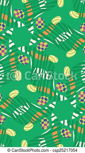 Abstract Easter Eggs in Grass Pattern - csp25217054