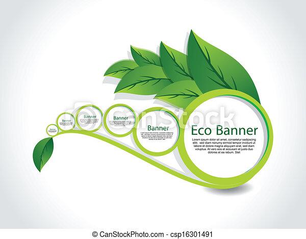 abstract Eco Banner Set vector - csp16301491