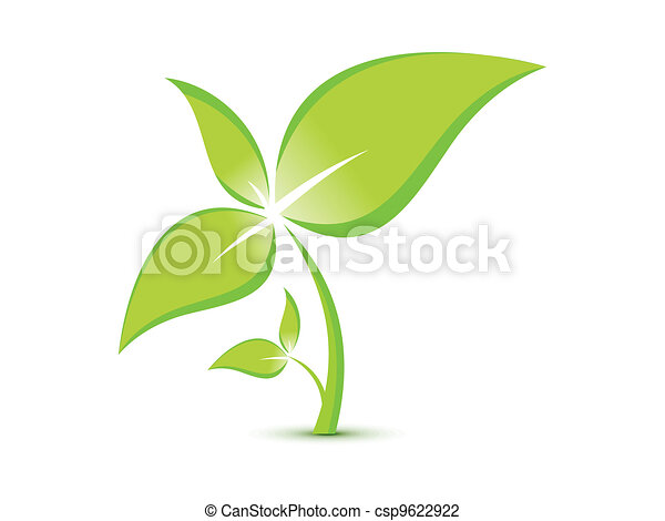 abstract eco plant template - csp9622922