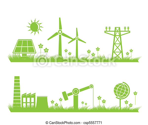 abstract ecology, industry, nature - csp5557771