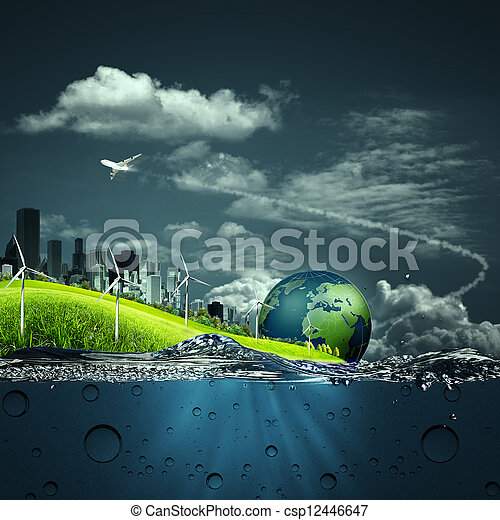 Abstract ecosystem backgrounds for your design - csp12446647