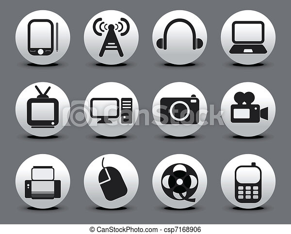 abstract electronic web icon set - csp7168906