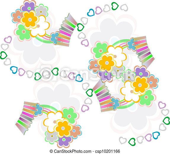 Abstract elegance seamless pattern with floral background - csp10201166