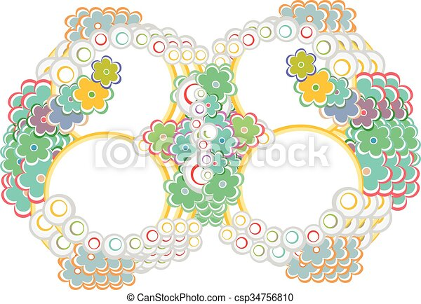 Abstract Elegance Seamless pattern with floral background vector background - csp34756810