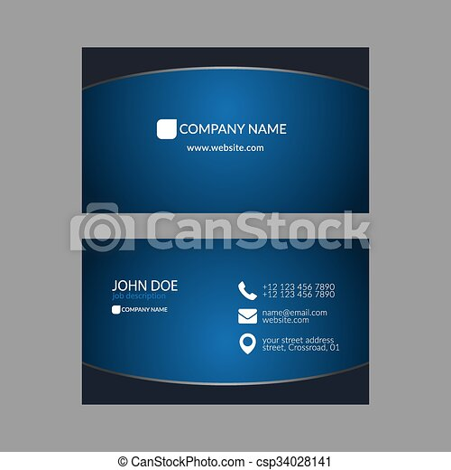 Eps10 vector illustration abstract elegant business card eps abstract elegant business card template csp34028141 wajeb Gallery