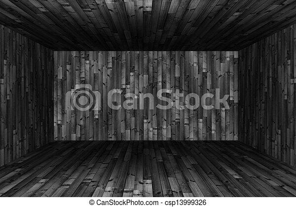 Abstract empty room 3d render  - csp13999326