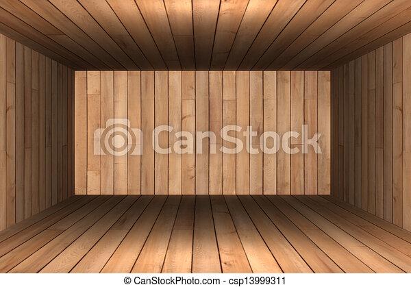 Abstract empty room 3d render  - csp13999311