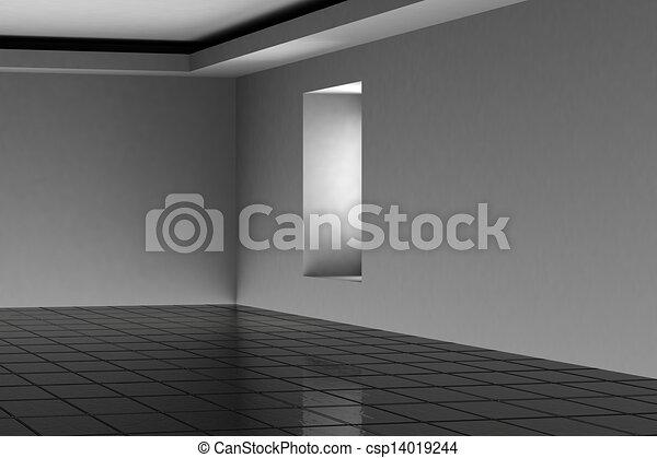 Abstract empty room 3d render - csp14019244