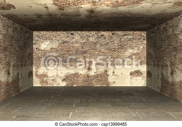 Abstract empty room 3d render  - csp13999485