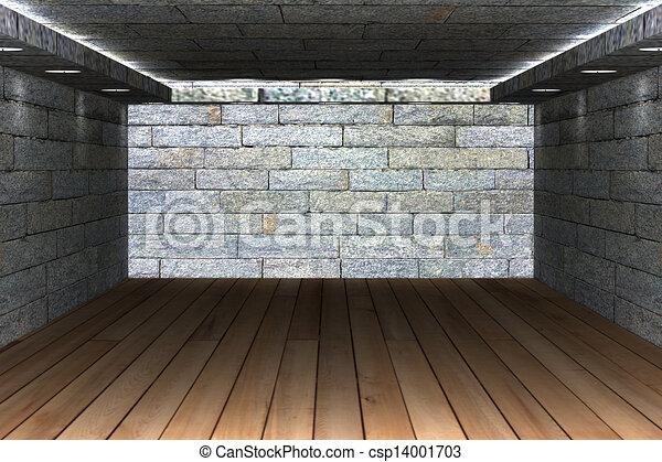 Abstract empty room  - csp14001703