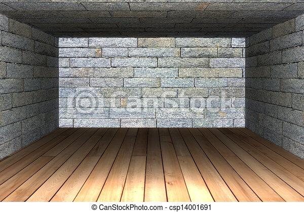 Abstract empty room  - csp14001691