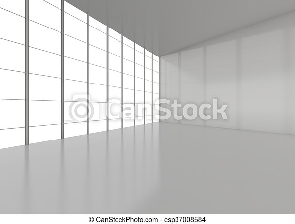 Abstract empty room for exhibition - csp37008584