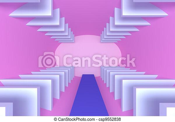 Abstract empty room - csp9552838