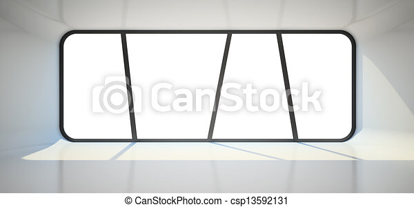 Abstract empty room with big window - csp13592131