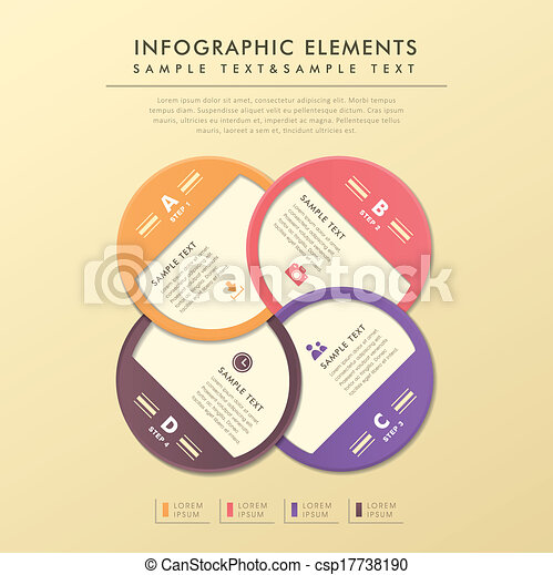 abstract, etiket, cirkel, infographics - csp17738190